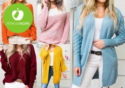 Rudenīgi sieviešu džemperi un garās jakas