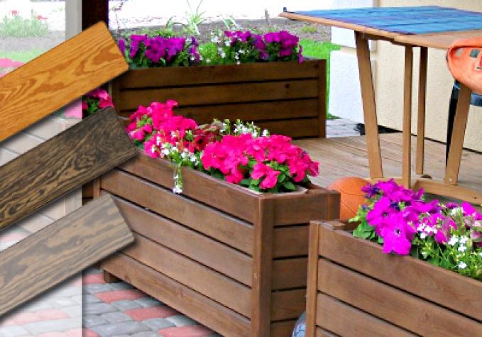 деревянный ящик для цветов цветочный горшок с подставкой