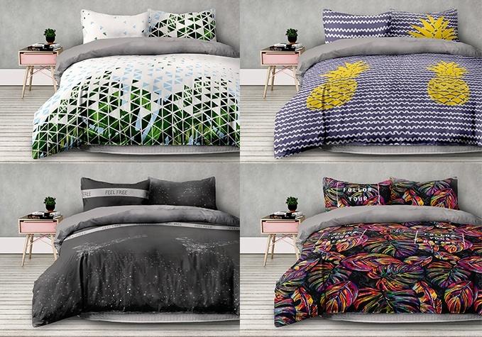 Mikrošķiedras gultas veļas komplekti