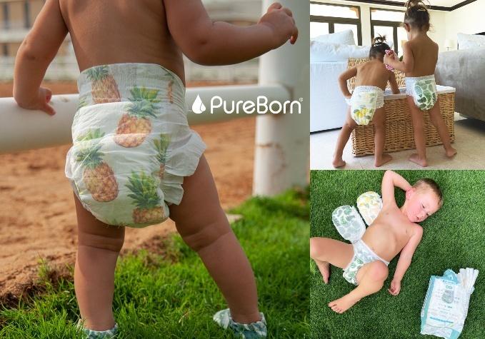 """""""PureBorn"""" bambusa šķiedras autiņbiksītes"""