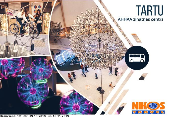 Tūre uz AHHAA zinātnes centru Tartu