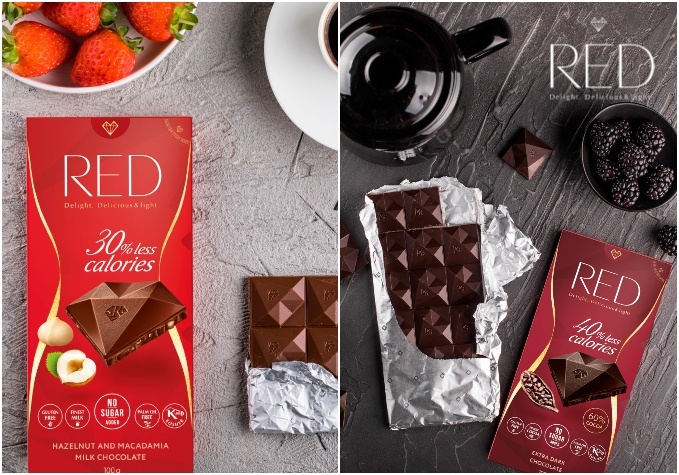 """Šokolāde """"RED"""" bez pievienota cukura"""