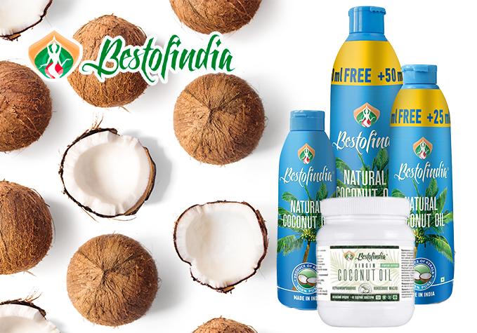 """""""Bestofindia"""" kokosriekstu eļļas"""