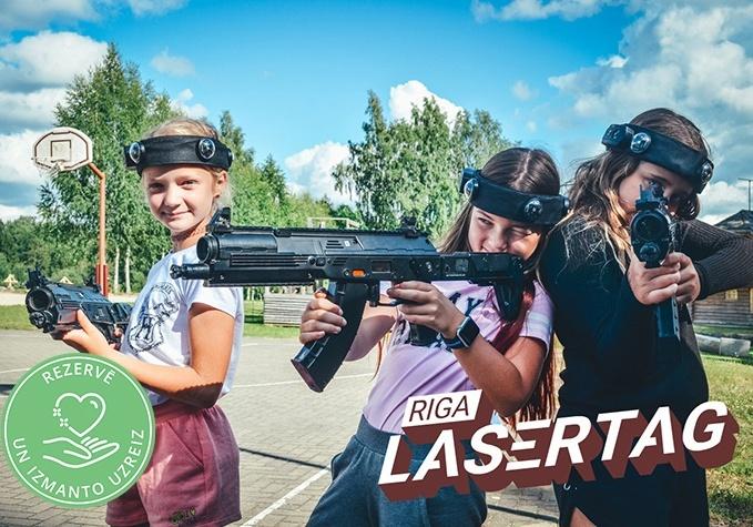 "Lāzerpeintbola spēle ""Riga Lasertag"""