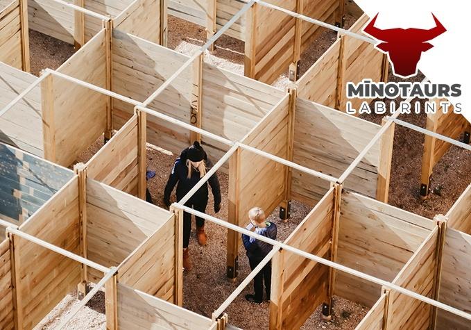 """Labirinta """"Mīnotaurs"""" apmeklējums Siguldā"""