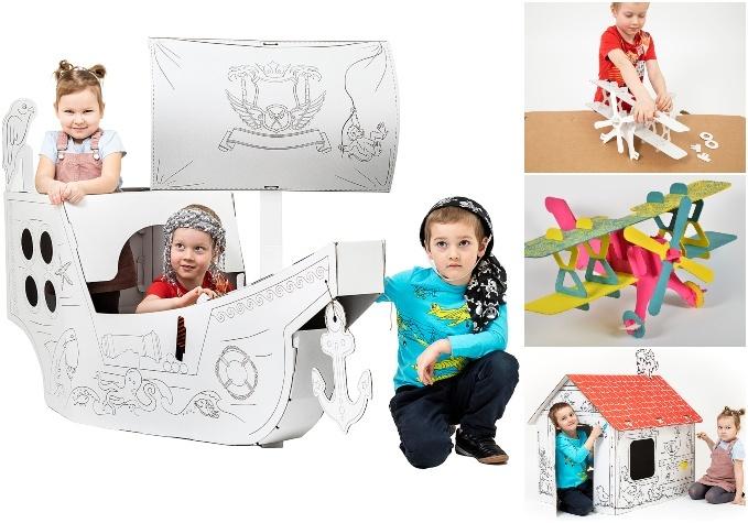 Kartona konstruktori u.c. rotaļlietas