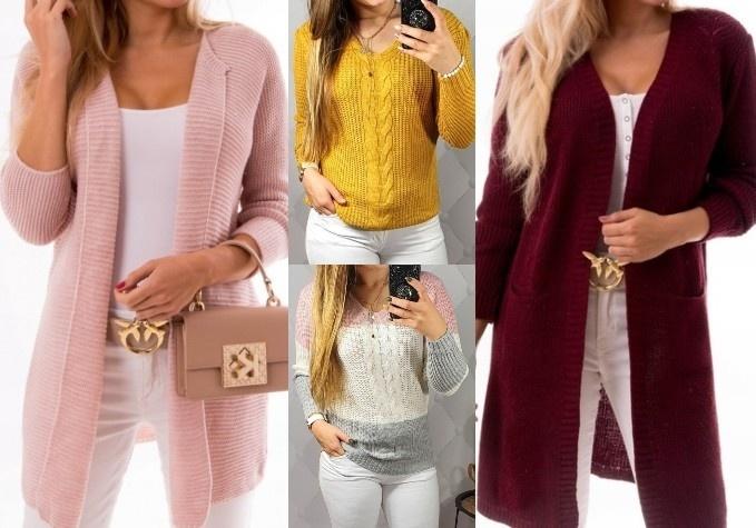 Stilīgi sieviešu džemperi un garās jakas