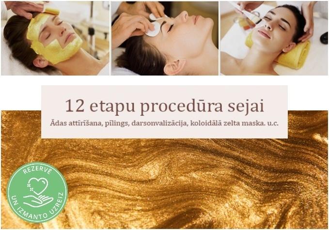 12 etapu dziļi attīroša procedūra sejai