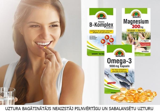 Zivju eļļa, magnijs vai vitamīnu komplekss