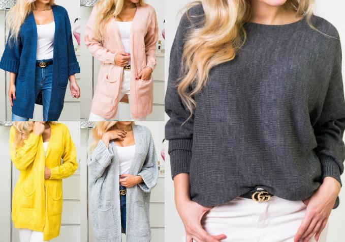 Ērti sieviešu džemperi un garās jakas