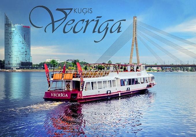 """Izbrauciens pa Daugavu ar kuģīti """"Vecrīga"""""""