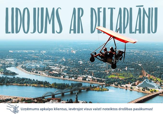 Lidojums ar deltaplānu virs Rīgas