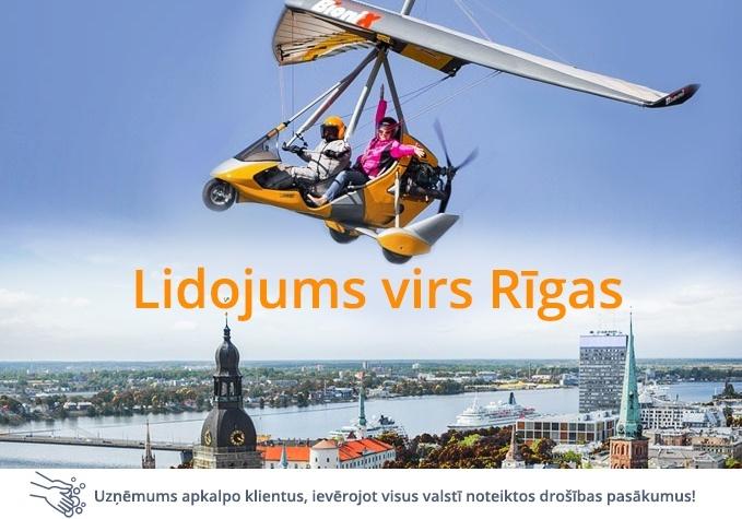 Lidojums ar motodeltaplānu virs Rīgas