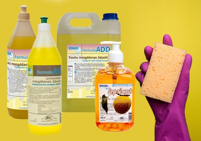 Šķidrās ziepes u.c. mazgāšanas līdzekļi