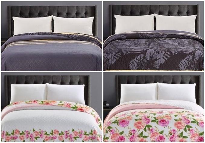 Eleganti divpusējie gultas pārklāji